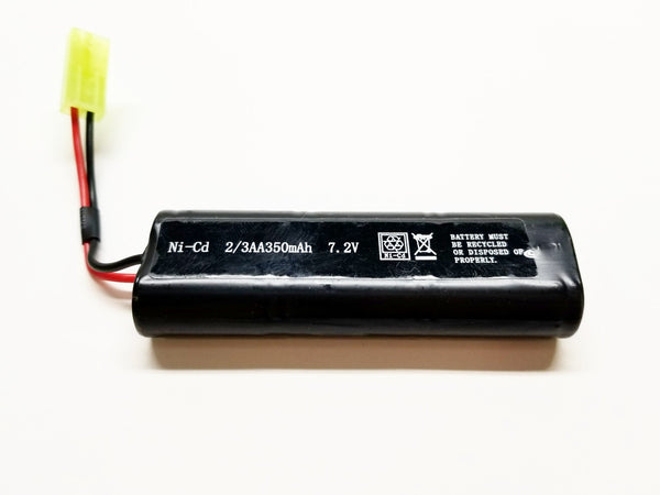 7.2v 350mAh airsoft battery for MP7, M4, and other arisoft AEG's, Free Ship!