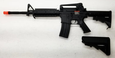 M4 with Rails, 2 stocks Replica Prop Gun, BROKEN Airsoft Gun, For Prop Use Only, Free Ship!