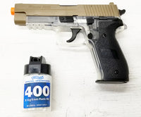 Airsoft Sig Sauer P226 Spring Pistol Kit Clear/Tan Free Ship!