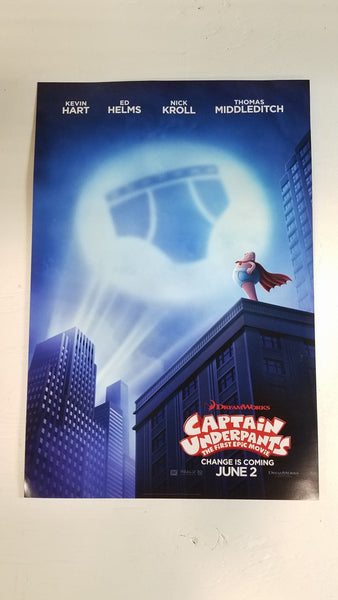 "Captain Underpants 13"" x 20"" Movie Poster -Double Sided"