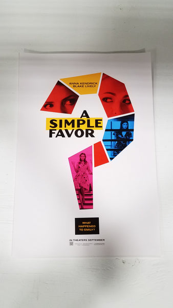 "A Simple Favor 13"" x 20"" Movie Poster (Style 2)"