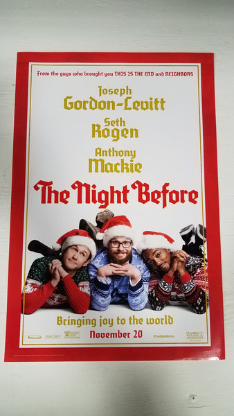 "The Night Before 11.5"" x 17"" Movie Poster"