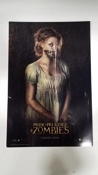 "Pride Prejudice Zombies 11.5"" x 17"" Movie Poster"