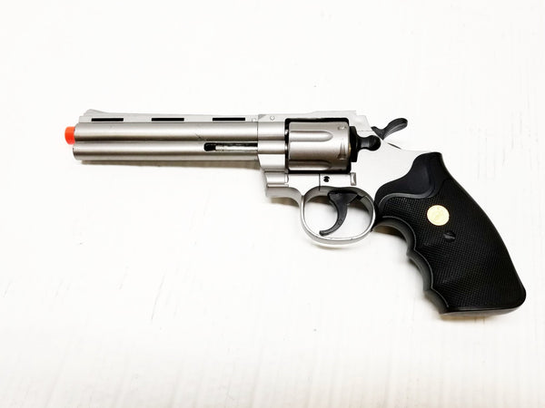 Silver Plastic Revolver Prop Gun, BROKEN Airsoft Gun, For Prop Use Only, Free Ship!