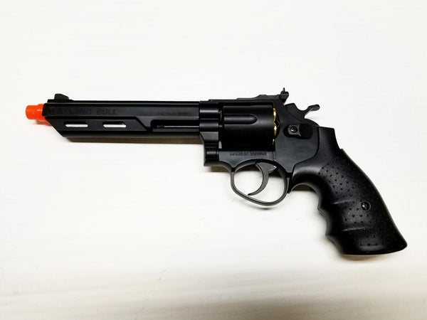 Refurbsihed Raging Bull Gas Airsoft Revolver Pistol with Shells