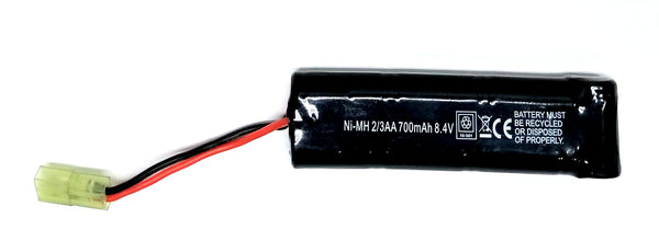 8.4V Ni-MH 700mAh airsoft battery for M4, Scar, X95, and other Aisoft AEG's, Free Ship!