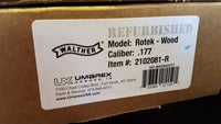 Factory Refurbished Walther Rotek .177 PCP Air Gun Rifle Wood Stock