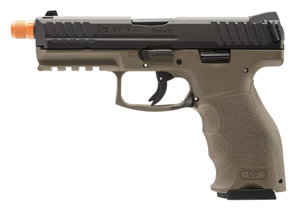 Licensed HK VP9 Gas Blowback Airsoft Pistol Blk/Tan 2275025, Free Ship!