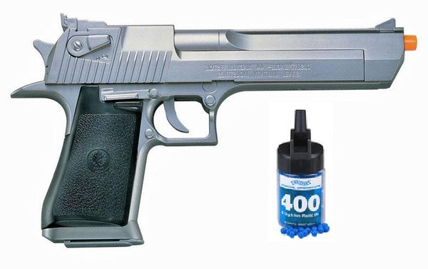 Refurbished Desert Eagle .50 Silver Airsoft Pistol with bbs Free Ship!