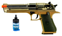 Refurbished Clear/Tan Desert Eagle Airsoft Spring Pistol with bbs Free Ship!