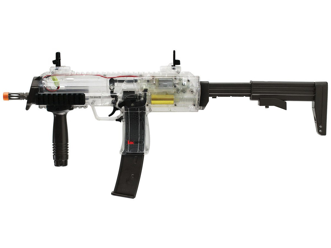 Refurbished HK MP7 Clear Airsoft AEG with Battery, Charger, 400ct .12 bbs, Free Shipping!