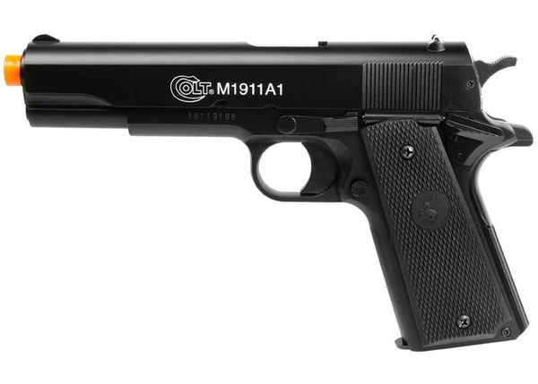 Refurbished Colt M1911A1 HPA Metal Slide Airsoft Spring Pistol -BLACK