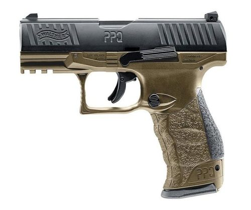 NEW Realistic CO2 Blowback Walther PPQ Blk/Tan .43cal Paintball Pistol