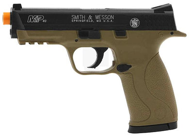 Refurbished Smith & Wesson M&P 40 Airsoft Co2 Pistol. Black and Tan