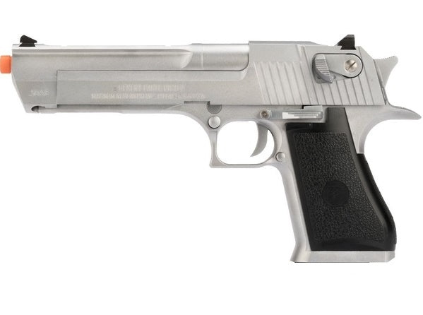 Desert Eagle .50 Cal. Prop Pistol. BROKEN AIRSOFT. METAL Working Slide. -SILVER