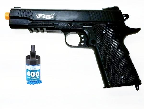 Refurbished Airsoft Licensed Walther 1911 Spring Pistol Kit Free Ship!