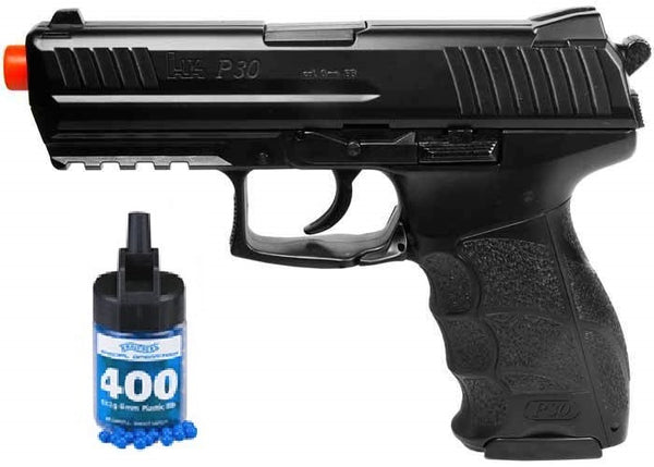 Refurbished HK P30 Spring Airsoft Pistol w/bbs Heavy Weight Metal Slide