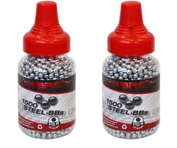 2 Bottles Umarex Steel 4.5mm BBs 1500 ct Free Shipping!
