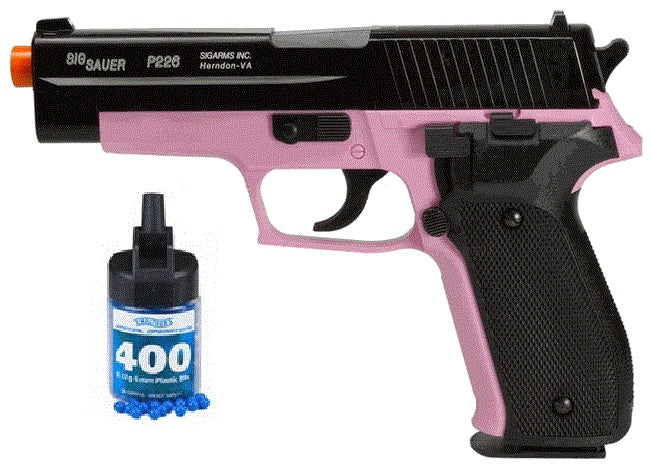 Refurbished Sig Sauer Pink P226 Spring Powered Airsoft Pistol with bbs