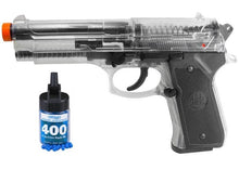 Refurbished Clear Beretta 92 Spring Airsoft Pistol w/bbs Free Ship!