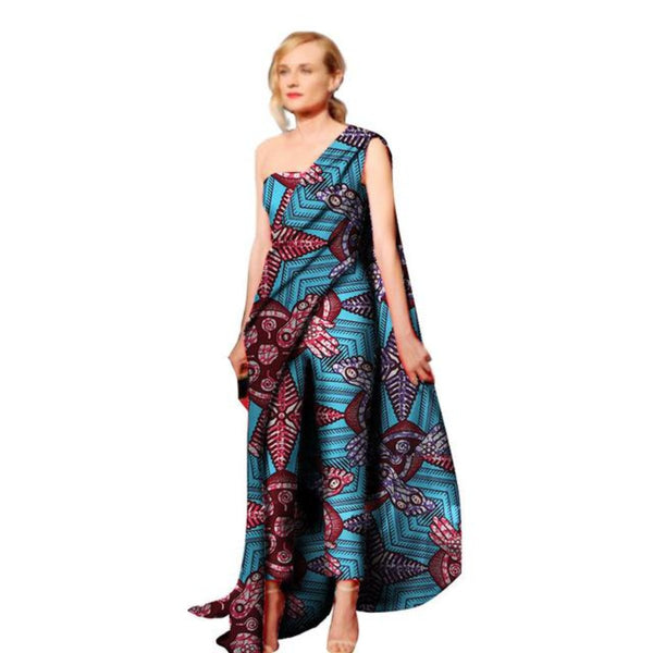 African Clothing For Women Kitenge Cotton Wax Print Romper Jumpsuit X11535