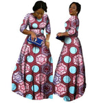 2018 African Bazin Dresses For Women African Long Sleeves Dresses For Women In African Clothing Wax Dashiki Fabric 6Xl Brw Wy516 - 1 / Xl