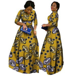 2018 African Bazin Dresses For Women African Long Sleeves Dresses For Women In African Clothing Wax Dashiki Fabric 6Xl Brw Wy516 - 11 / M