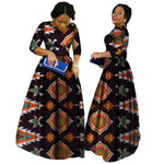 2018 African Bazin Dresses For Women African Long Sleeves Dresses For Women In African Clothing Wax Dashiki Fabric 6Xl Brw Wy516 - 12 / Xl