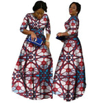 2018 African Bazin Dresses For Women African Long Sleeves Dresses For Women In African Clothing Wax Dashiki Fabric 6Xl Brw Wy516 - 3 / M