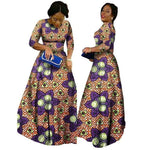 2018 African Bazin Dresses For Women African Long Sleeves Dresses For Women In African Clothing Wax Dashiki Fabric 6Xl Brw Wy516 - 7 / Xl
