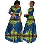 2018 African Bazin Dresses For Women African Long Sleeves Dresses For Women In African Clothing Wax Dashiki Fabric 6Xl Brw Wy516 - 8 / Xl
