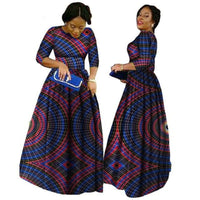 2018 African Bazin Dresses For Women African Long Sleeves Dresses For Women In African Clothing Wax Dashiki Fabric 6Xl Brw Wy516