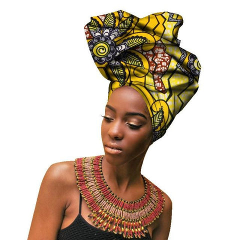 2018 Fashion African Headwraps For Women Head Scarf Lady Hight Quality Cotton Accessories Wyb141 2