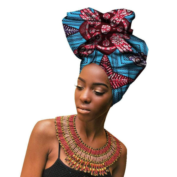 2018 Fashion African Headwraps For Women Head Scarf Lady Hight Quality Cotton Accessories Wyb141