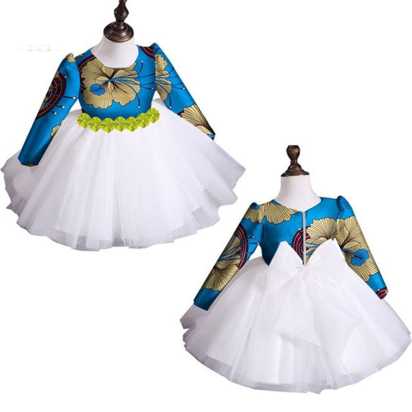 2018 New Summer Africa Children Clothing Dashiki Cute Girls Dresses Bazin Riche Sweet African Traditional Clothing Wyt115 - 20 / S