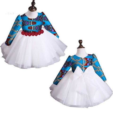 2018 New Summer Africa Children Clothing Dashiki Cute Girls Dresses Bazin Riche Sweet African Traditional Clothing Wyt115 - 7 / S