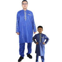 African Clothing For Men Embroidered Bazin Riche Top and Pants V21605