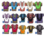 African Clothing 100% Cotton Printed Unisex Dashiki for Men and Women T00450