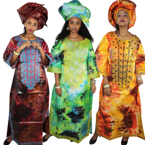 African Cloth For Womenplus size caftans Traditional  Embroidery - Afrinspiration
