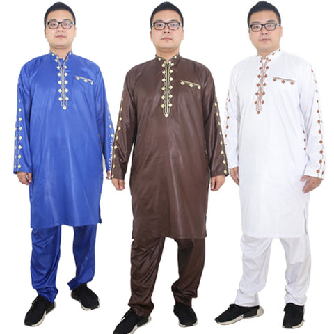 African Dresses For Men Dashiki Mens African Clothing Bazin Outfit Male Y20768