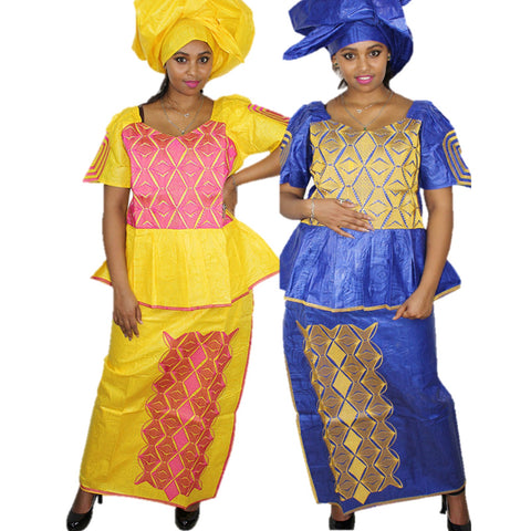 African Dresses For Women African Bazin Riche Design Dresses Bazin X20959