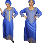 African Cloth For Womenlong kaftan dress Traditional Embroidery  X21186