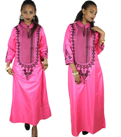 African Cloth For Women kaftan dress Traditional Embroidery  X21185