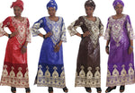 African Style Dress For Women Embroidered Bazin Riche 100% Cotton with X21310