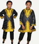 African Dresses For Women Soft Silk Material Top with Pants X20656