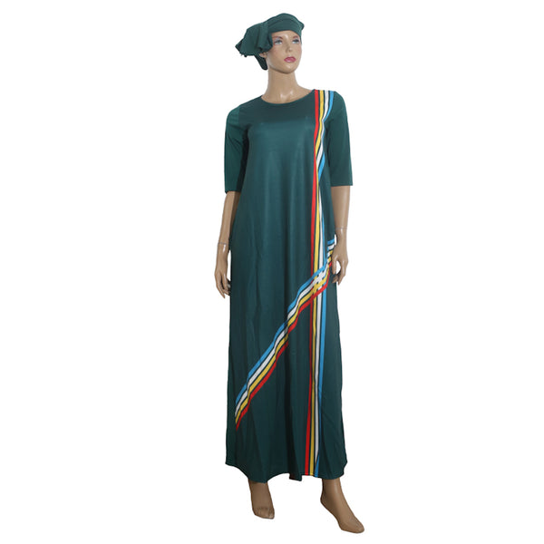 Loose Long Maxi Casual Traditional African Dress For X11482