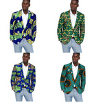 African Ankara Print Casual Dashiki Blazers Suit For Men Y10540