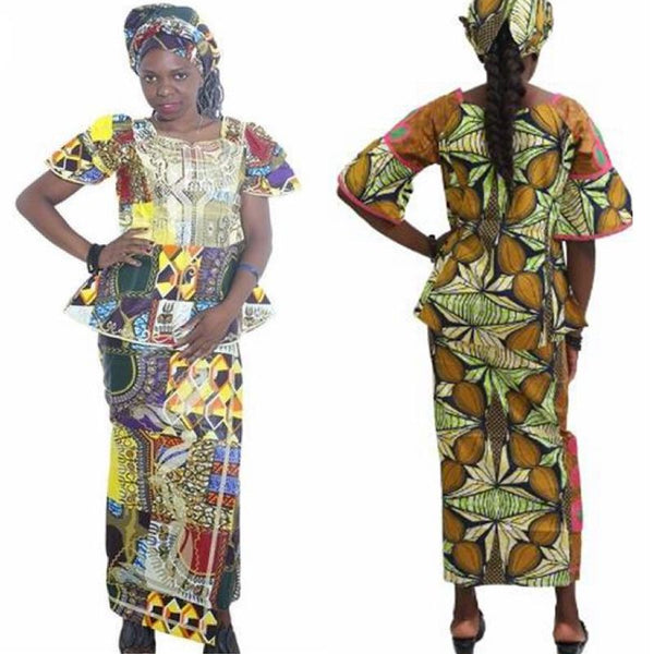 African Clothes For Women Traditional Riche Bazin Embroidery Dashiki African - Afrinspiration