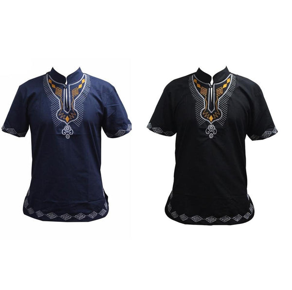 Pan African Holiday Kwanzaa Embroidery Fitted Tee Top Y20468