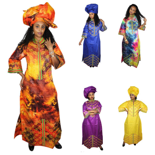 African Clothing For Women New Bazin Riche Design Embroidery Long  X21293